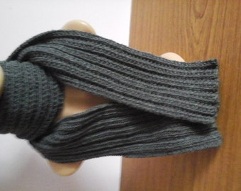 Hand Knitted Mans Scarf
