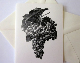 Grapes Note Cards Set of 10 with Matching Envelopes