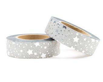 Washi tape sliver glitter with stars