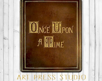 Once Upon a Time Mouse Pad, Fairy Tale Book Mouse Pad