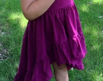 High Low Burgundy dress