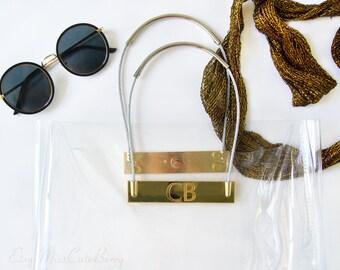 Personalized tote bag - Custom initial bag personalized - Monogram tote bag - Monogram beach tote - Monogram bag Tote Personalized Clear bag