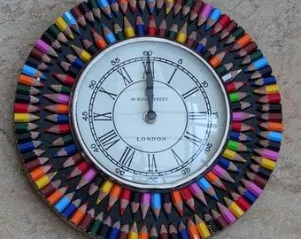 Recycled Crayon Clock