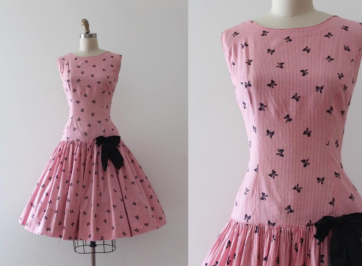 Jahrgang 1950 Kleid / / 50er Jahre kleine Bögen Kleid aus