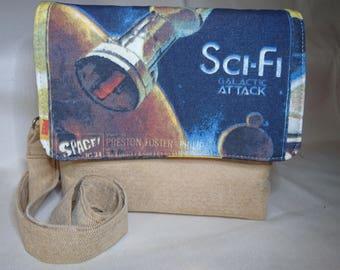 Sci Fi inspired convertible cross body/ clutch bag
