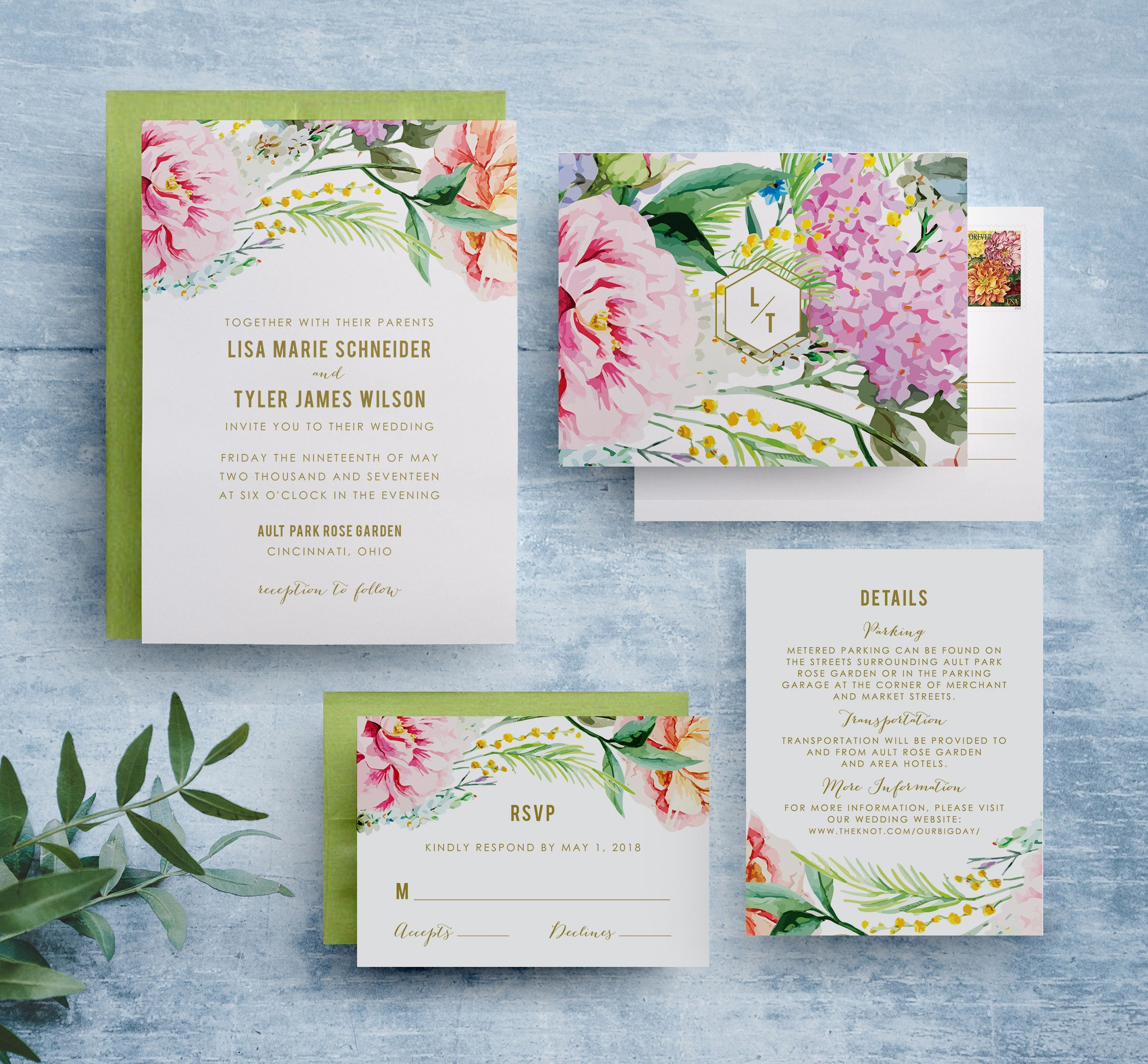 Boho Rustic Wedding Invitations Bohemian Floral Wedding