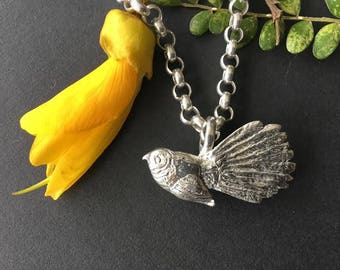 Handcrafted Silver Fantail