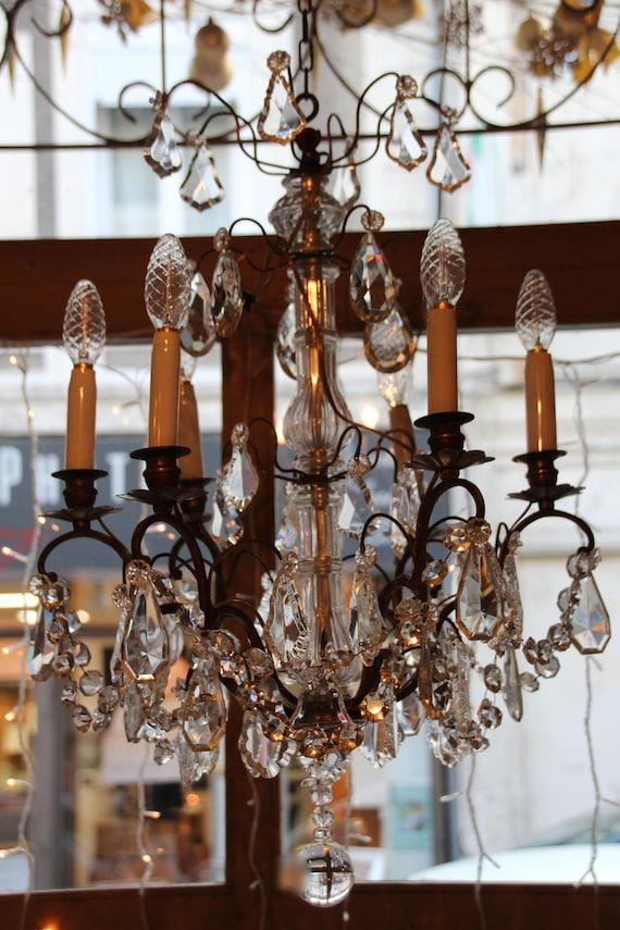 Crystal chandelier lighting french chandelier french vintage aloadofball Images