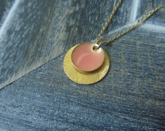 Necklace gold small round gold plated sterling silver
