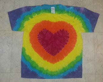 Tie Dye Heart youth medium