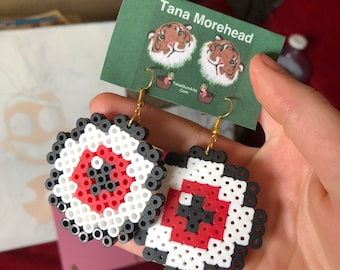 PerlerBead Eyeball Earrings