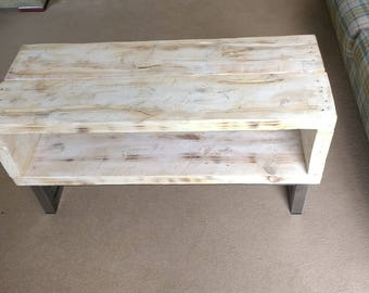 TV Stand. Industrial chi, Handmade, distressed up-cycled Pine and Steel
