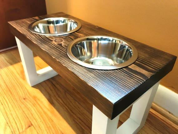 Wooden Pet Food Stand Dog Food Bowl Cat Food Bowl Cat