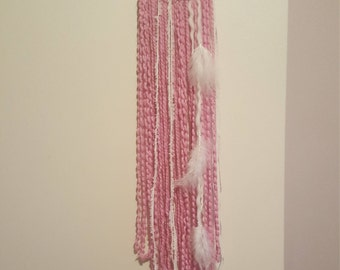 Wall Hanging 'Candy Floss' hoop