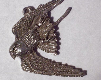 Diving Falcon Pendent or Pin     New Design