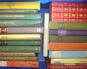 Set of 23 Fiction Folio Society Books.  17 with slipcases