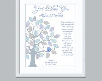 Baby Baptism Gift - Baptism Print - personalized baptism gift - Unique Baptism Gift - Baby Dedication Gift - Catholic Baptism Gift -