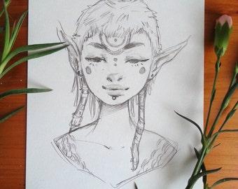 Sketch IV - Original Art
