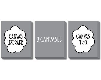CANVAS Trio - Turn any three PRINTs into a CANVAS - CANVAS Wrap Upgrade - 8 x 10, 11 x 14, 12 x 16 or 16 x 20 - Ready to hang art