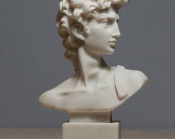 King DAVID Bust Statue Sculpture Handmade Made in Greece 5.12in - 13cm **Free Shipping & Free Tracking Number**