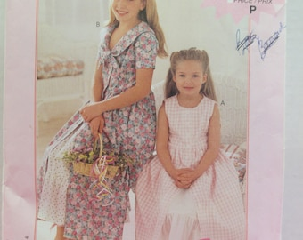 Girls dress paper pattern McCalls size child 2-3-4-5-6 uncut pattern Fashion