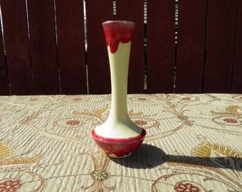Mid Century Modern 1960's Rose Bud Flower Vase - Ceramic Floral Art Vase