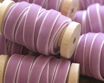 """Lavender Velvet Ribbon, Purple Velvet Ribbon, 3/8"""" Velvet Ribbon, Velvet Ribbon Spool, 3 yards, Lilac Velvet Ribbon, Velvet Ribbon"""