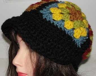 Gannys Gone Wild  Crochet Hat Pattern with or without Brim PDF