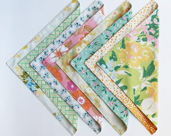 Fabric Napkins, Cloth Napkins, Reusable Napkin Set, Springtime Floral, Handmade by Knotted Nest