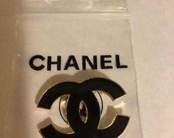 Black fashion  CC pin