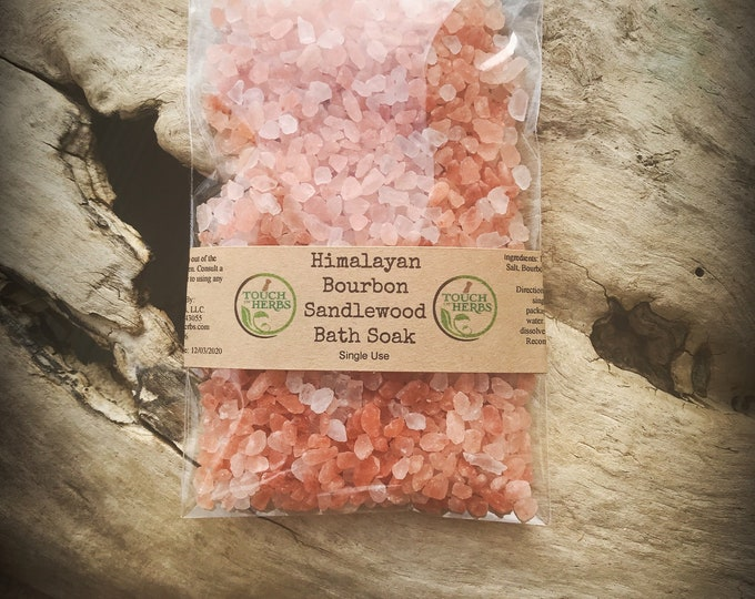 Bourbon Gifts - Bath Salts - Mineral Salts - Gift for man - Bath and Body - Natural Skincare - Small Gift - Bath and Beauty - Gift under 5