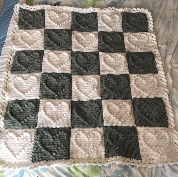 Crochet baby blanket crochet heart baby blanket heart