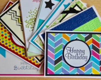 Card organizer etsy 100 handmade birthday cards bulk birthday cards birthday card assortment greeting cards and bookmarktalkfo Images