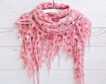 Pink Scarf, Fashion Accessories, Lace Shawl, Bridal Accessories, Gift Ideas, Girlfriend Gift, Valentine's Day Gift, Many color variations
