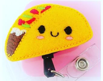 Feltie Badge Reel - Taco Tuesday -  Badge Holder - Retractable Badge Reel - ID Badge Clip - Nurse - RN Badge -  Badge - Mysweetbadge