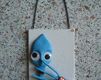 Mini frame 3D 1 big-eyes blue 8x10cm