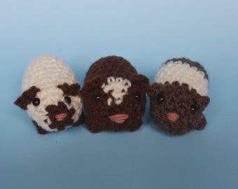 Crochet Guinea pig keychains/decoration