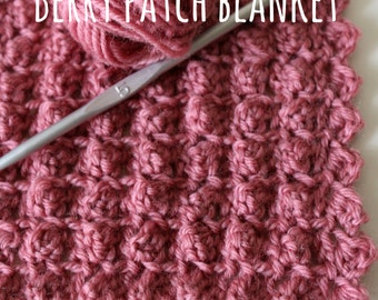 Download Now - CROCHET PATTERN Berry Patch Blanket - Make to Any Size - Pattern PDF