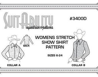 PDF Women's Western Stretch Show Shirt Pattern