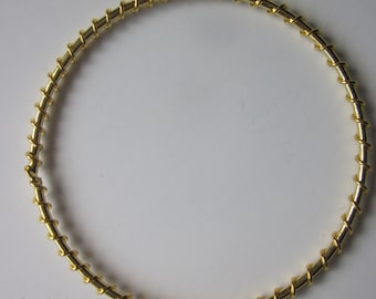Wire Wrapped Gold Finished Steel Circle Jewelry Components 55mm 4 Components