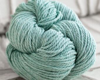 Organic O-Wool Balance worsted wool and cotton blend tweed yarn