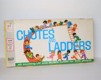 1974 Chutes And Ladders Game by Milton Bradley