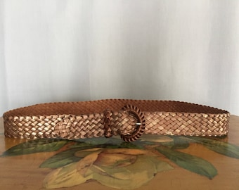 Metallic Woven Belt Vintage size XS or Small