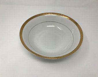 Sango Empress Gold 8453 Vegetable Serving Bowl