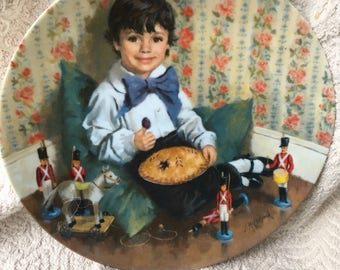 Little Jack Horner collectible plate