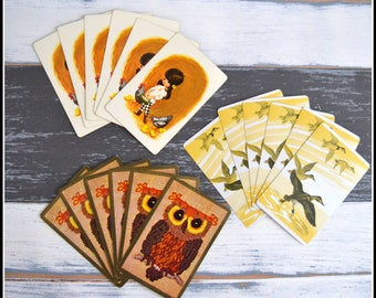 Vintage Playing Card Grouping - Vintage Cards - Lot of Vintage Cards - Playing Cards - Card Swap   (#C4)