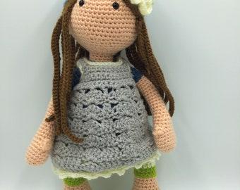 Lilly - Custom Made Crocheted Doll, Handmade Doll