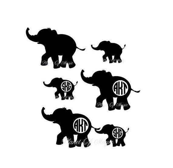 Elephant Monogram Svg File Elephant Mom Eps File Baby