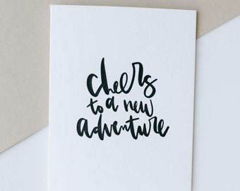 new adventure-- letterpress greeting card