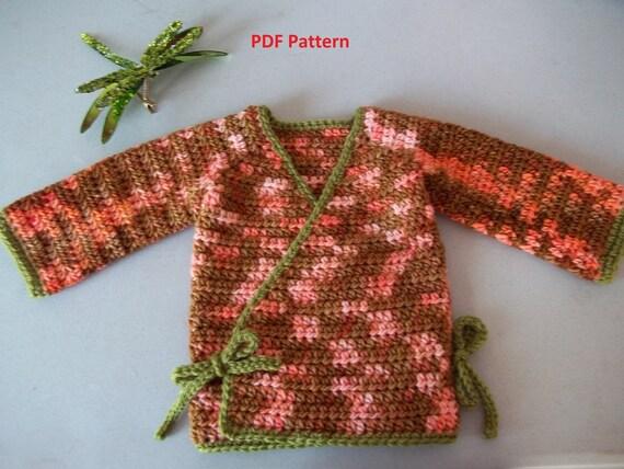 Baby Girl Kimono Crochet Pattern, Girls Kimono Crochet Pattern, Crochet Kimono Pattern, Toddler Kimono Crochet Pattern, Crochet Kimono